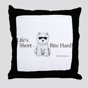 Life's Short Westie Throw Pillow