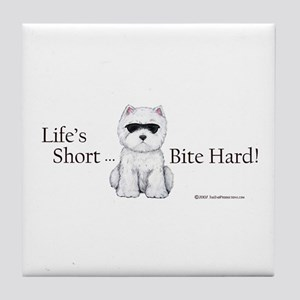Life's Short Westie Tile Coaster