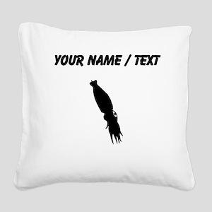 Squid Silhouette (Custom) Square Canvas Pillow