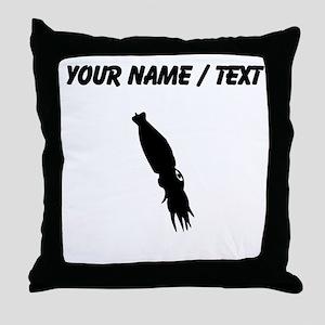 Squid Silhouette (Custom) Throw Pillow