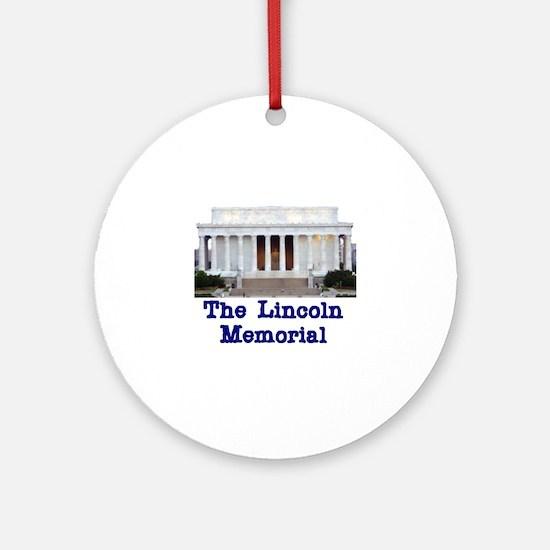 The Lincoln Memorial Ornament (Round)