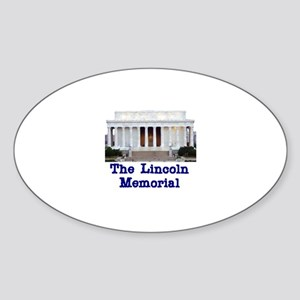 The Lincoln Memorial Oval Sticker