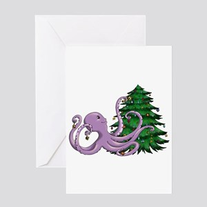 Octi Tree Greeting Cards