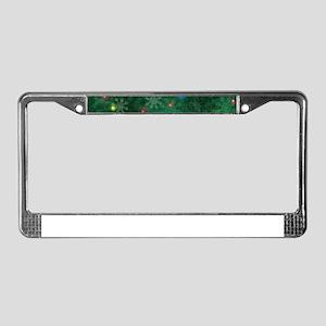 Christmas Snow Lights License Plate Frame