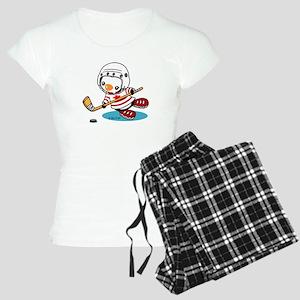 Ice Hockey Penguin (1) Women's Light Pajamas