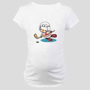 Ice Hockey Penguin (1) Maternity T-Shirt