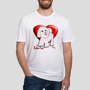 """Bichon Cartoon""  Fitted T-Shirt"