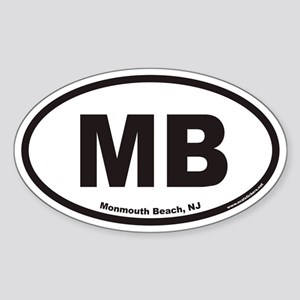 Monmouth Beach MB Euro Oval Sticker