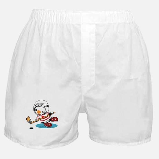 Ice Hockey Penguin (1) Boxer Shorts