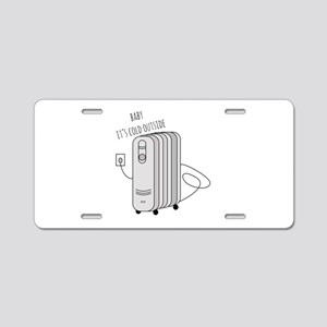 Cold Outside Aluminum License Plate