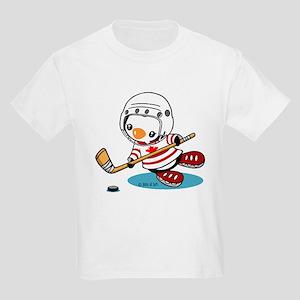 Ice Hockey Penguin (1) Kids Light T-Shirt