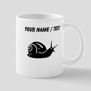 Snail Silhouette (Custom) Mugs