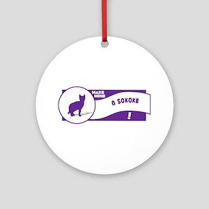 Make Sokoke Ornament (Round)
