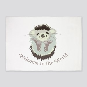 Welcome To The World 5'x7'Area Rug