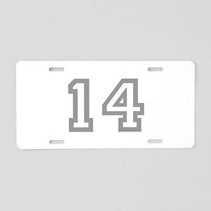 14 Aluminum License Plate