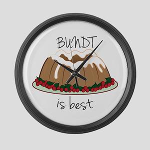 Bundt Is Best Large Wall Clock