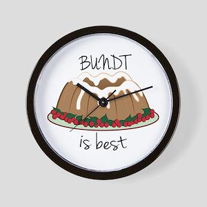 Bundt Is Best Wall Clock