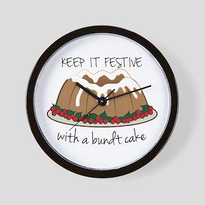 Keep It Festive Wall Clock