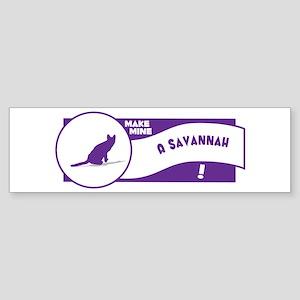 Make Savannah Bumper Sticker