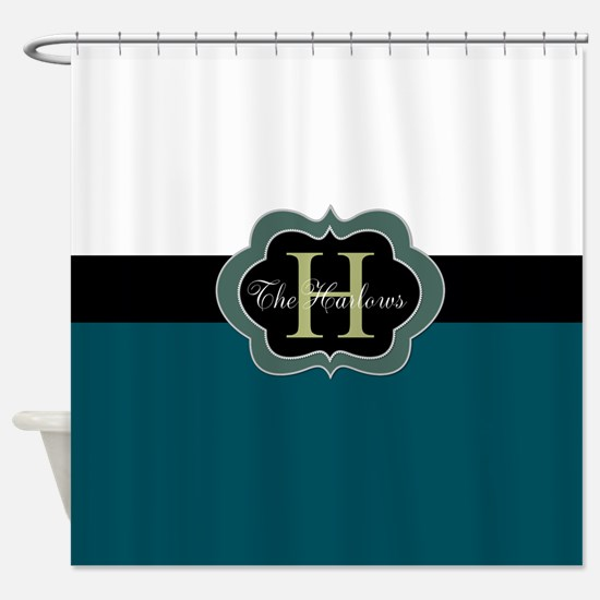 Monogram Design You Can Personalize Shower Curtain