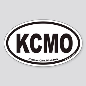 Kansas City Missouri KCMO Euro Oval Sticker