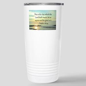 PSALM 118:14 Stainless Steel Travel Mug
