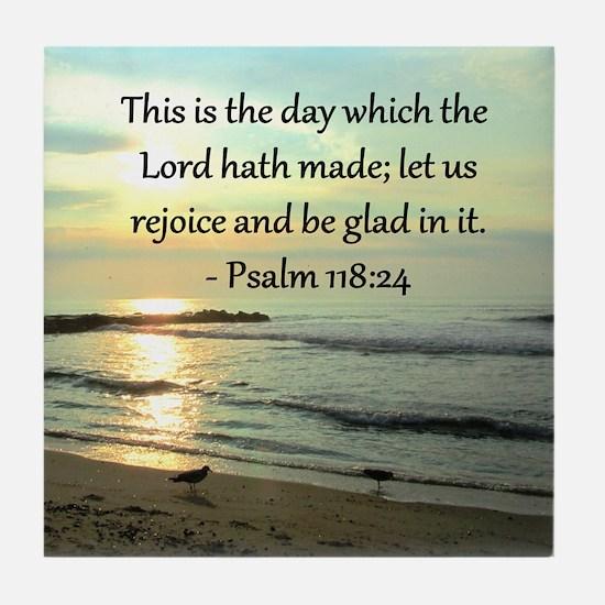 PSALM 118:14 Tile Coaster