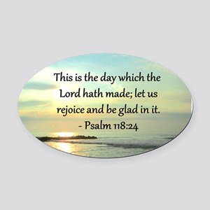 PSALM 118:14 Oval Car Magnet