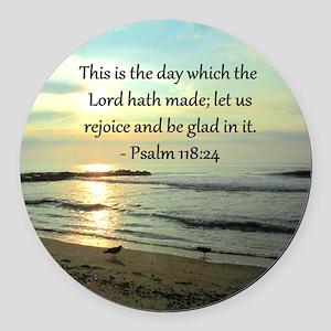 PSALM 118:14 Round Car Magnet