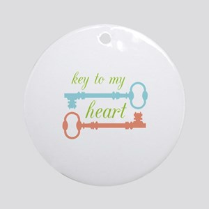 Key To Heart Ornament (Round)