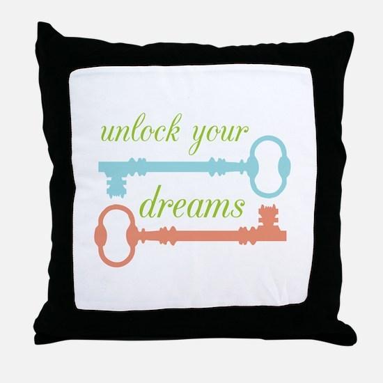 Unlock Dreams Throw Pillow