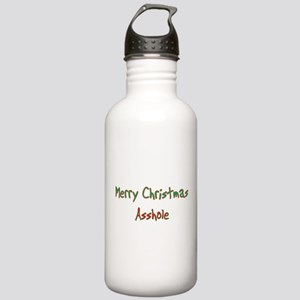 Merry Christmas Asshole Water Bottle