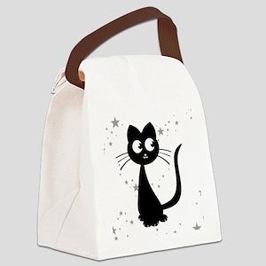 Kitty Kuro Canvas Lunch Bag