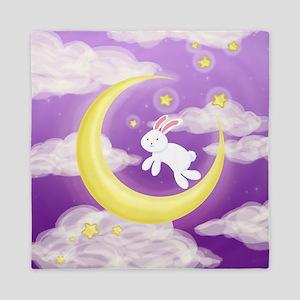 Moon Bunny Purple Queen Duvet