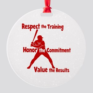 VALUE BASEBALL Round Ornament
