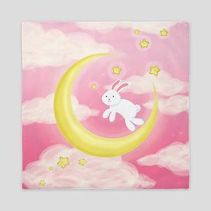 Moon Bunny Pink Queen Duvet