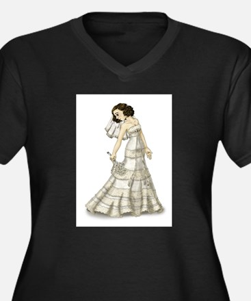 Lace Bride Plus Size T-Shirt