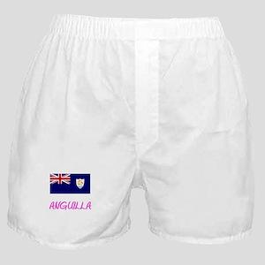 Anguilla Flag Artistic Pink Design Boxer Shorts