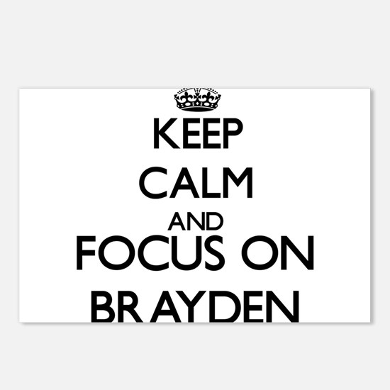 Keep Calm and Focus on Br Postcards (Package of 8)