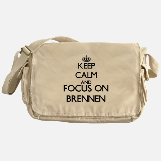 Keep Calm and Focus on Brennen Messenger Bag