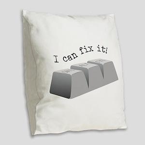Can Fix It Burlap Throw Pillow