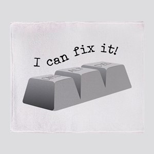 Can Fix It Throw Blanket