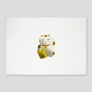 Lucky Cat White 5'x7'Area Rug