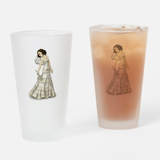 Lace Bride Drinking Glass