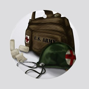Army Medic Ornament (Round)