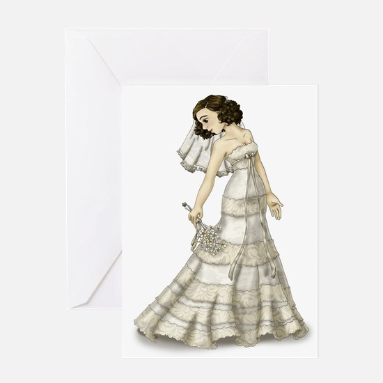 Lace Bride Greeting Cards