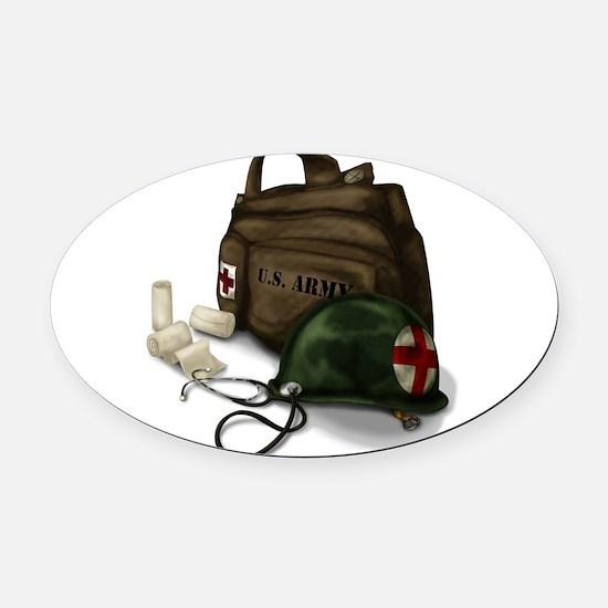 Army Medic Oval Car Magnet