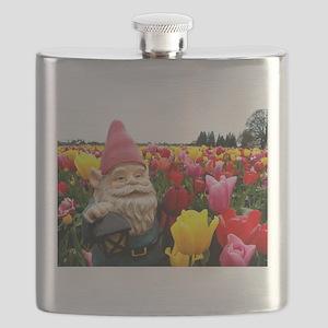 Gnome Petals Flask