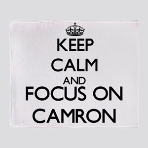 Keep Calm and Focus on Camron Throw Blanket