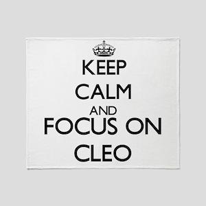 Keep Calm and Focus on Cleo Throw Blanket